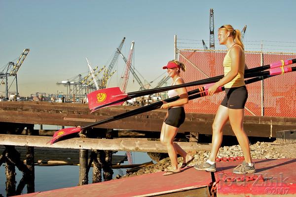 Women's Rowing Practice 5.8.07