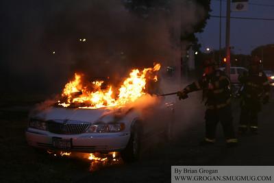 Sunrise and Ocean Car Fire 8/16/10