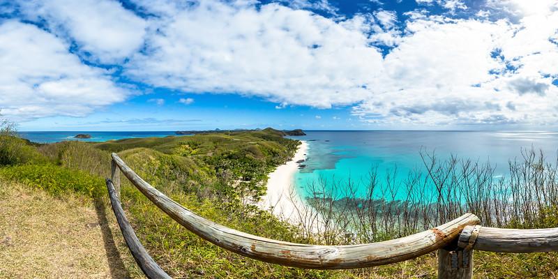 Lookout to Amazing Dazzling Beach - Yasawa - Fiji Islands