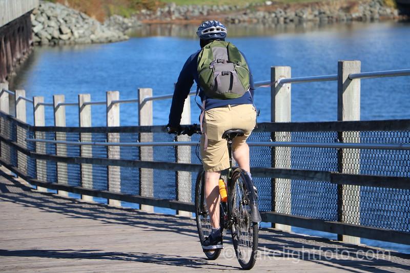 Biking on Selkirk Trestle