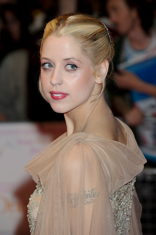 . In this Tuesday, Aug. 23, 2011, file photo, British personality Peaches Geldof arrives for the European premiere of One Day at a central London venue. Entertainer Bob Geldof\'s agent said on Monday, April 7, 2014,  his 25-year-old daughter Peaches has died. (AP Photo/Jonathan Short, File)