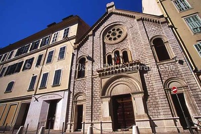 FRANCE, Nice. Rue Gustave Deloye Synagogue. (2006)