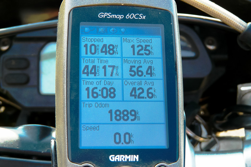 GPS Summary of my ride
