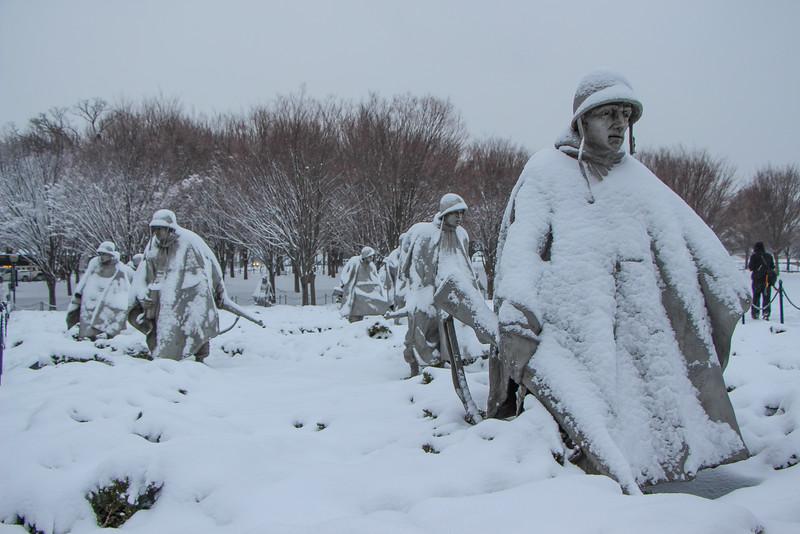 March Snowstorm - Korean War Memorial