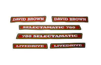DAVID BROWN 780 SELECTAMATIC LIVE DRIVE SERIES BONNET DECAL SET