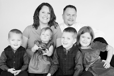 Family, Danielle 9 mo, Christian 3, Holiday