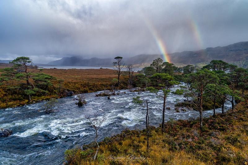 Showers  on Loch Maree