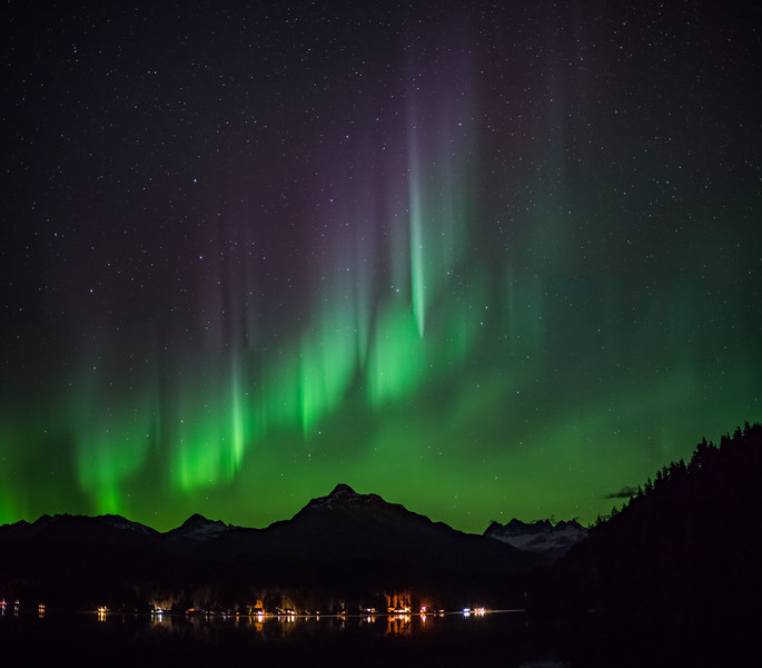 Aurora over Auke Lake