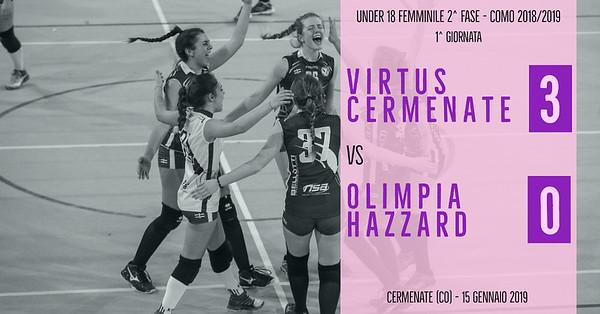 CO-U18f-2f: 1^ Virtus Cermenate - Olimpia Hazzard