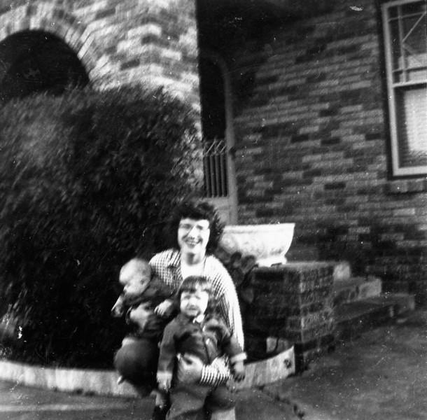 Maria Smock with Jim and Janice 1102 Omar 1952