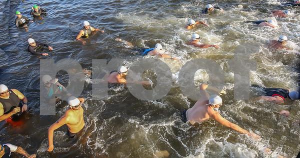 Swim Photos Start -- Second Wave 0808 - 0809
