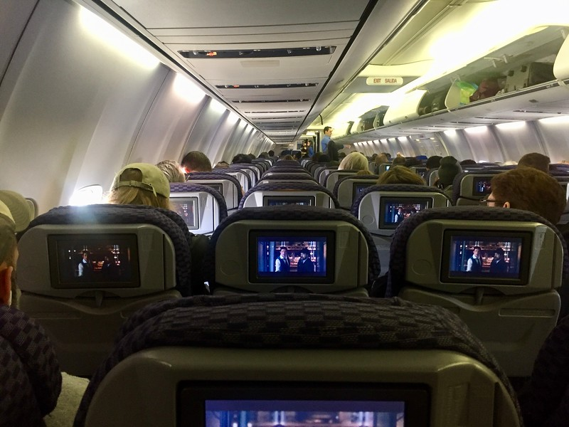 Airplane interior -How to Find Cheap Flights
