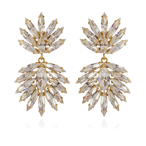 Cina Earrings / Crystal Gold