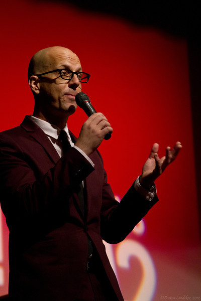 George Hrab getting the party started.