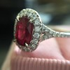 1.52ct Ruby Halo Ring, GIA No Heat 6