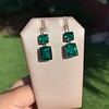 Georgian Double Drop Emerald Paste Earrings 18