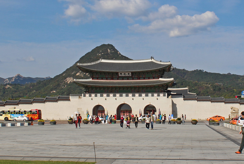 Gwanghwamun, the main entry gate