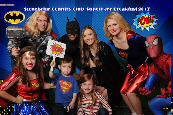 Stonebriar Country Club Supehero Breakfast photos