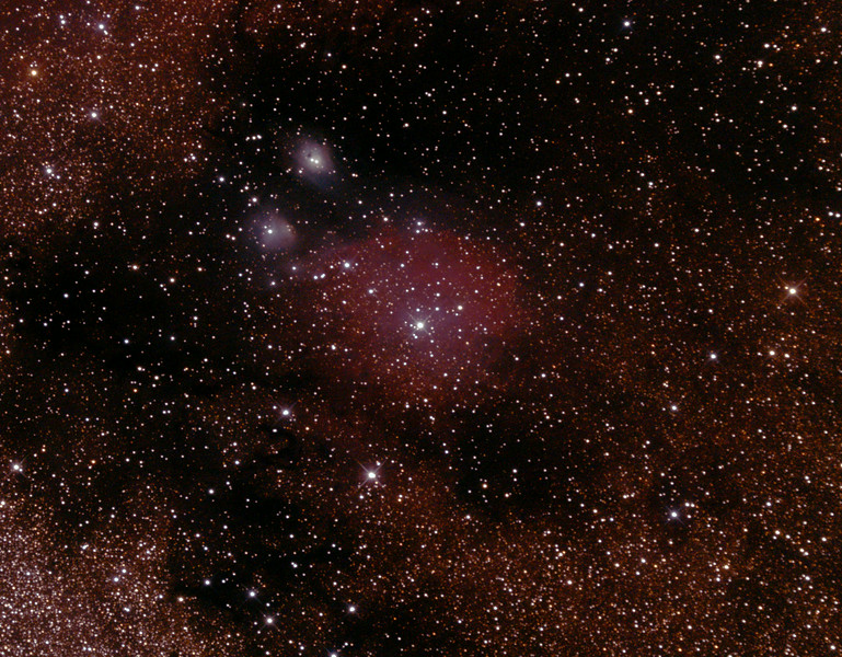 IC1283-1284 - Gum 78 Nebula in Sagittarius - 28/6/2014 (Processed cropped stack)