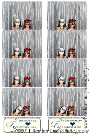 Shannon and Leo - October 13, 2012 - Photo Booth Strips