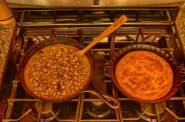 Beans and Cornbread plus Patio Progress 12-6-13