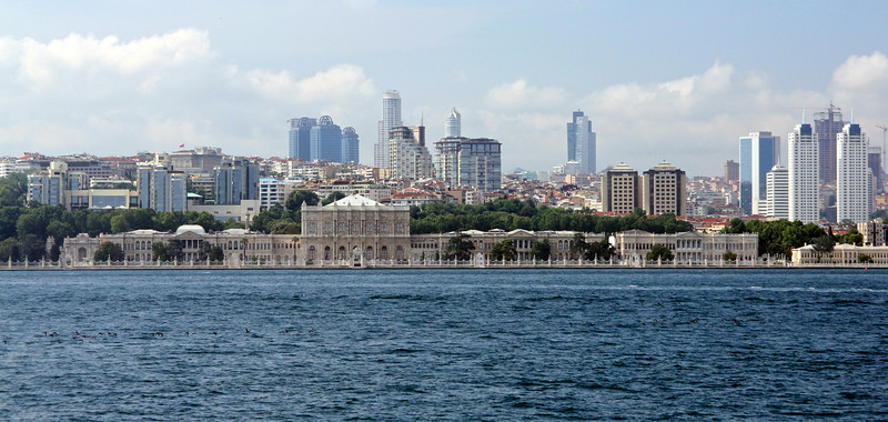 Dolmabahçe Palace from the Bosphorus Cruise