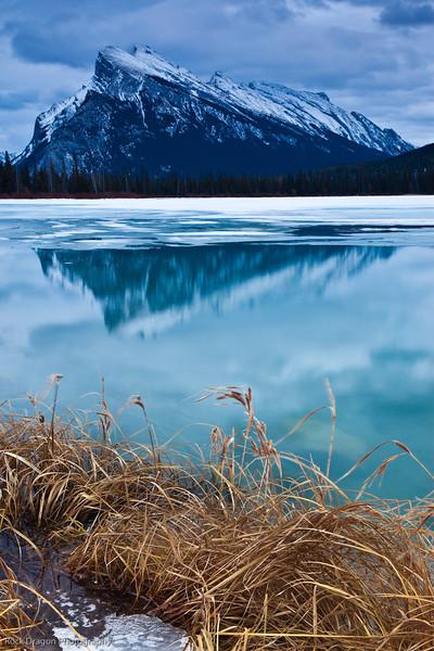 Mt. Rundle at Vermillion Lakes, Banff National Park