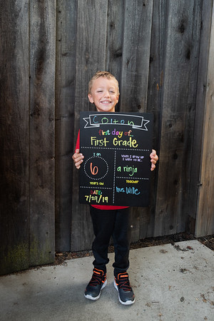 Colton's First Day of First Grade