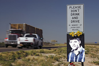 Roadside Crosses-New Mexico