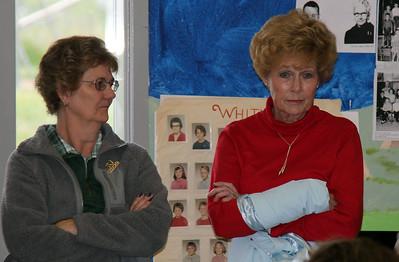 ...and Sharon Cripps Mizner (right).