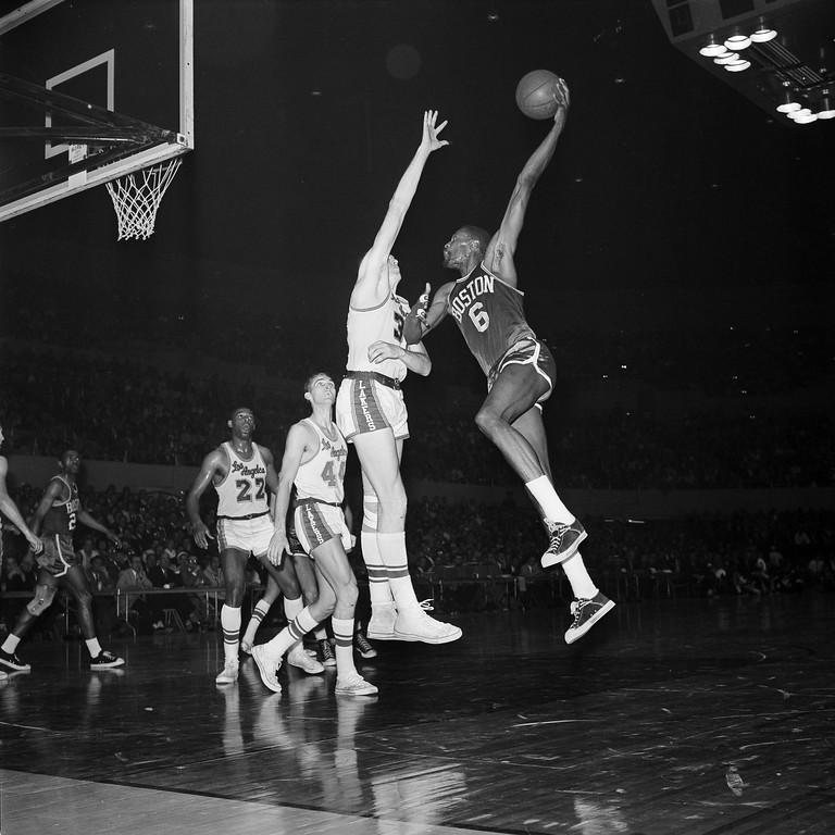 . 2. Bill Russell, shown at right (AP Photo/Harold P. Matosian)