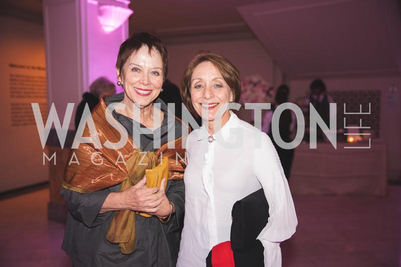 Eileen Ritter, Jeanne Decervens. Photo by Bruce Allen. 2018 Rodarte Exhibition Reception