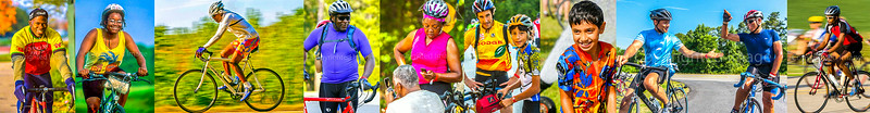 Colorful Cyclists