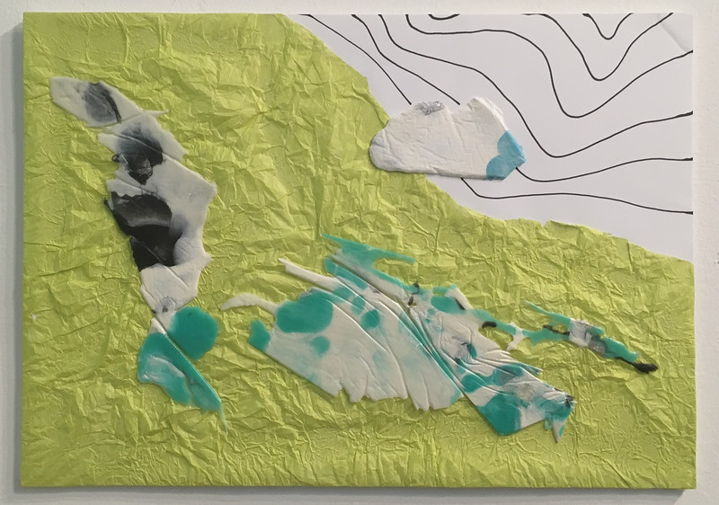 Mapping landscapes I, collage