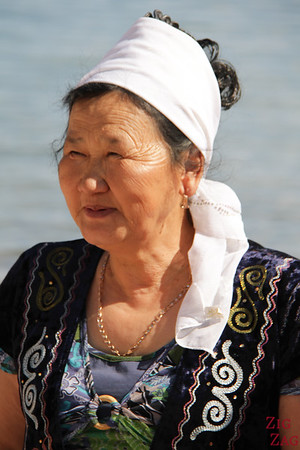 Portrait Kyrgyzstan people: strong woman