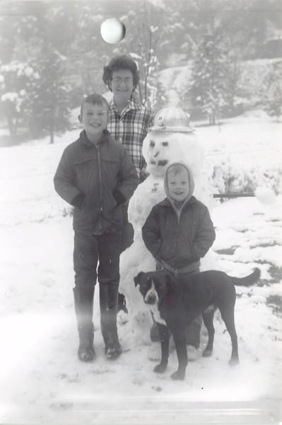 Frankie, David, Jeff on a snow outing