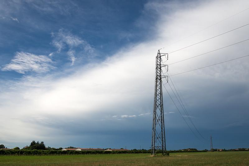 Power Lines - Fellegara, Scandiano, Reggio Emilia, Italy - December 8, 2011