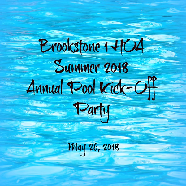 2018 Pool Kick Off Party