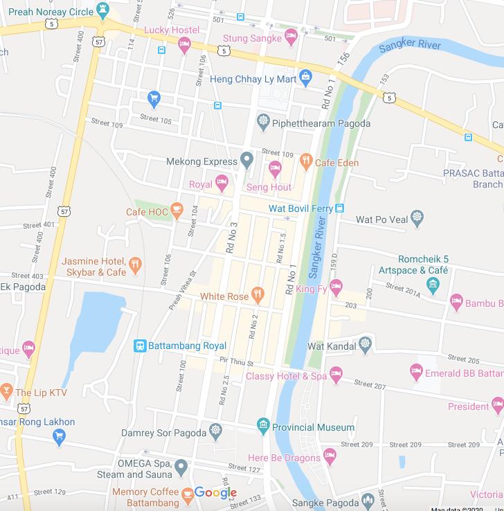 Map of Battambang