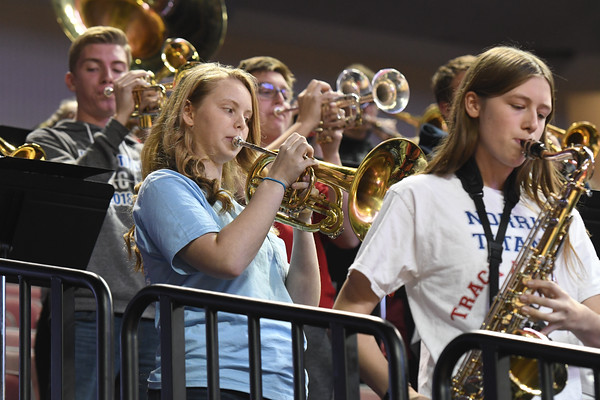 Pep Band at State Volleyball Tournament