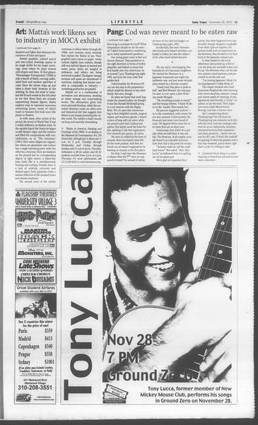 Daily Trojan, Vol. 144, No. 60, November 28, 2001