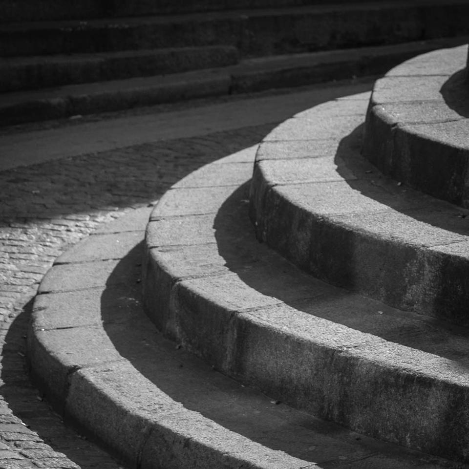 Curved steps, Paris 5eme, Latin Quarter