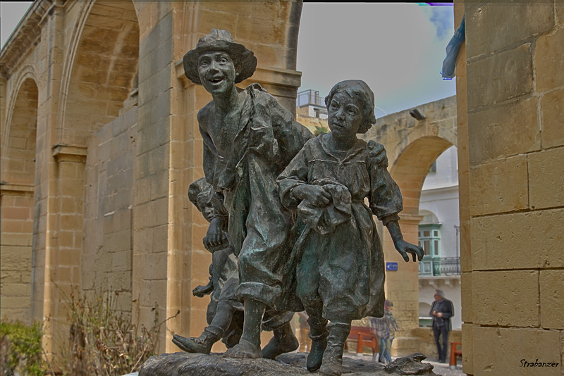 """Les Gavroches"" by Antonio Sciortino in the Upper Barrakka Gardens