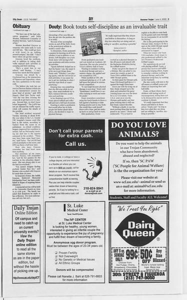 Summer Trojan, Vol. 140, No. 4, June 07, 2000