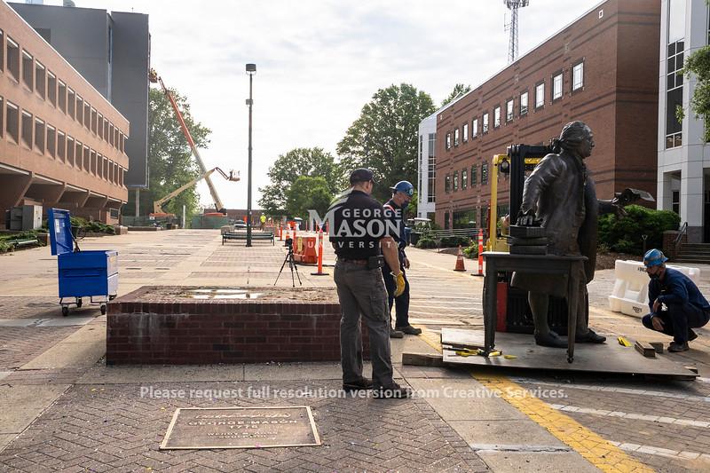 George Mason Statue Move
