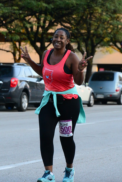Indy Women's Half Marathon - mile 3