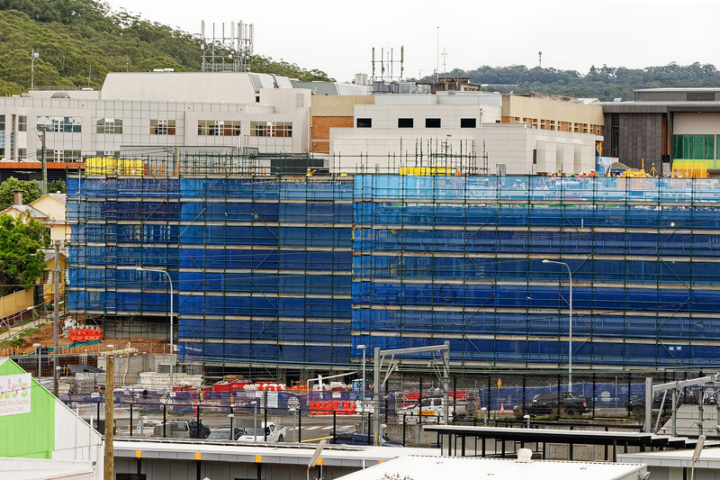 Gosford Hospital building progress H47ed October 2018.