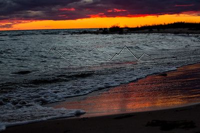 Sunset on Lake Michigan from Harbor Springs, MI