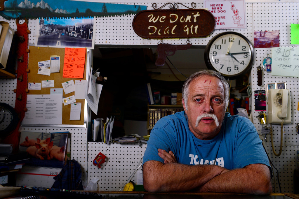 . WALSENBURG, CO - FEBRUARY 26: The Pawn Shop owner Joe Kaneilia speaks about guns at his store in Walsenburg. Gun owners in southern Colorado largely agree that responsible ownership begins at home. (Photo by AAron Ontiveroz/The Denver Post)
