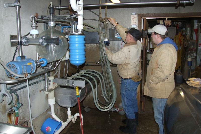 jim & david in the milk room